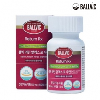 [볼빅] 탈모영양제 리턴 알엑스 포우먼 500mg*30정x1병 (1개월) / 비오틴 칼슘