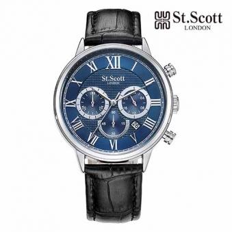 [St.Scott] 세인트스코트 ST3051L 남성 가죽시계 정장시계 멀티시계 3종 택1 (업체별도 무료배송)