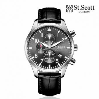 [St.Scott] 세인트스코트 ST3052L 남성 가죽시계 정장시계 멀티시계 크로노그래프 4종 택1 (업체별도 무료배송)