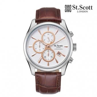 [St.Scott] 세인트스코트 ST3054L 남성 가죽시계 크로노그래프 4종 택1 (업체별도 무료배송)