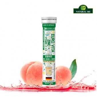 [내츄럴365] 유로비타 아연+비타민C+비타민E 4,500mg*20정x1통 (20일분) (업체별도 무료배송)