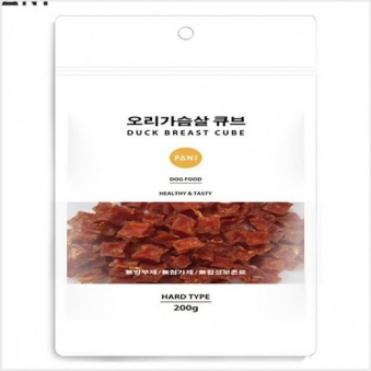 파니 오리가슴살 큐브 200g X 4개 (업체별도 무료배송)