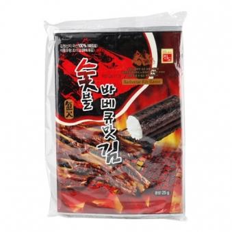 [주말특가] [면세점김] 숯불 바베큐맛김 25g*5봉입(125g)